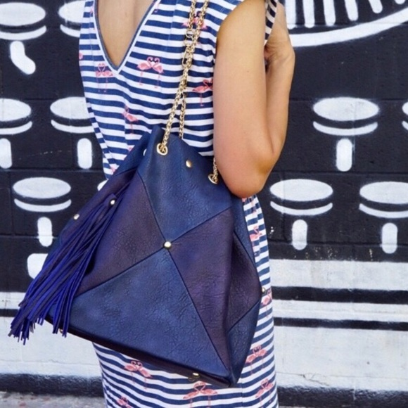 Pink Haley Handbags - ⭐️HP⭐️Color block Backpack /Tote